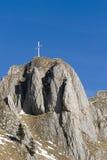 De bovenkant van de Berg van Branderschrofen royalty-vrije stock foto