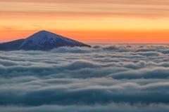 De bovenkant van de bergen royalty-vrije stock foto's
