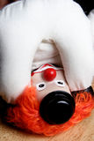 De bovenkant van de clown - onderaan het bekijken eigen ezel Royalty-vrije Stock Afbeeldingen