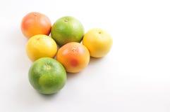 De Bovenkant van de Driehoek van de grapefruit & van de Pompelmoes Stock Afbeeldingen