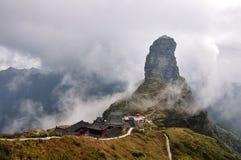 De bovenkant van Fanjing-Berg stock afbeeldingen