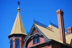 De bovenkant van het dak van huis Stock Foto's