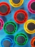 De bovenkant van koelkastmagneten - neer Stock Foto's