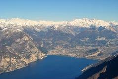 De bovenkant van Meer Garda Royalty-vrije Stock Fotografie