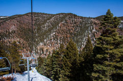 De Bovenkant van Sipapuski resort new mexico skiing van het Leven stock fotografie