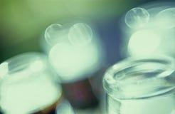 De Bovenkanten van de Fles van het glas stock foto