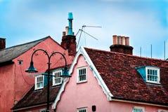 De bovenkanten van het dak van Lavenham Royalty-vrije Stock Foto