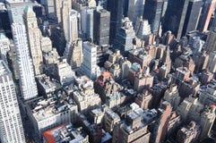 De Bovenkanten van het Dak van Manhattan stock afbeeldingen