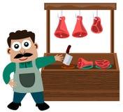 De box van het vlees vector illustratie