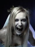 De boze bruid van het zombielijk royalty-vrije stock foto's