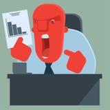 De boze werkgever is ontevreden met resultaten Royalty-vrije Stock Foto's