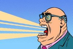 De boze werkgever schreeuwt stock illustratie