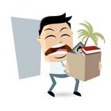 De boze werknemer hield op met zijn baan stock illustratie