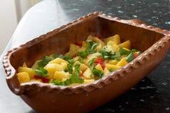 De braadpan van de aardappel Stock Fotografie