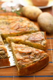 De braadpan van de aardappel Stock Afbeeldingen