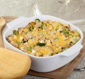 De Braadpan van de kip en van de Macaroni stock afbeeldingen