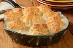 De braadpan van het kippenkoekje Stock Foto's