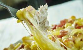 De Braadpan van kippencordon bleu stock fotografie