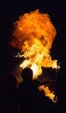 De brand ademhaling stock foto