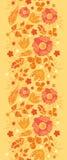 De brand bloeit verticale naadloze patroonachtergrond Stock Afbeelding