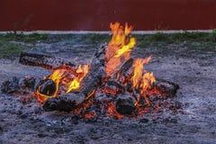 De brand brandt plat Royalty-vrije Stock Fotografie