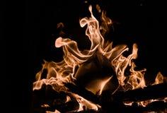 De brand Een brand in de open haard Royalty-vrije Stock Foto