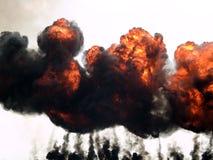 De brand en de rook van de explosie Stock Afbeeldingen