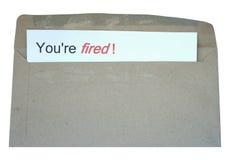 De in brand gestoken brief, Open envelop met u is in brand gestoken woord stock foto's
