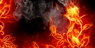 De brand nam toe royalty-vrije illustratie