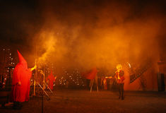 De brand toont Stock Foto