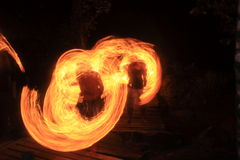 De brand toont bij eiland Kood Stock Fotografie