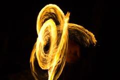 De brand toont bij eiland Kood Royalty-vrije Stock Afbeeldingen