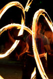 De brand toont - zhangler draaien torch_2 Stock Fotografie