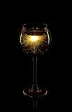 De brand van Bengalen in glas Royalty-vrije Stock Foto
