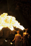 De brand van de ademhaling Royalty-vrije Stock Foto's