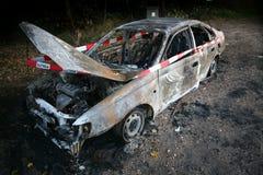 De brand van de auto Royalty-vrije Stock Afbeeldingen
