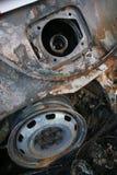 De brand van de auto Stock Foto's