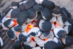De brand van de barbecue Stock Foto