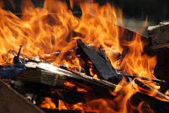 De brand van de barbecue Royalty-vrije Stock Fotografie