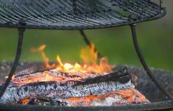 De brand van de barbecue Royalty-vrije Stock Foto's