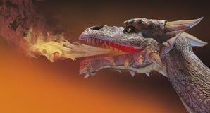 De brand van de draak stock illustratie