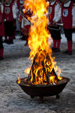 De brand van de dwaas \ 's stock afbeeldingen
