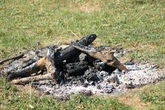 De brand van de haard royalty-vrije stock afbeeldingen