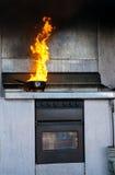 De brand van de keuken Stock Foto's