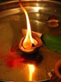 De Brand van de kokosnoot Stock Afbeelding
