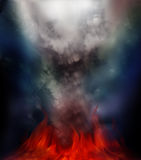 De brand van de mysticus Stock Afbeeldingen