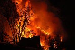 De Brand van de nacht Royalty-vrije Stock Foto's