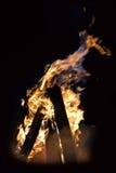 De brand van de nacht. Stock Afbeelding