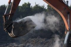 De Brand van de stortplaats Stock Fotografie