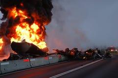 De Brand van de tanker stock afbeelding